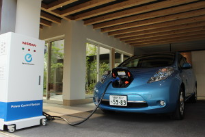 Nissan преобразует электромобили в мобильный источник энергии
